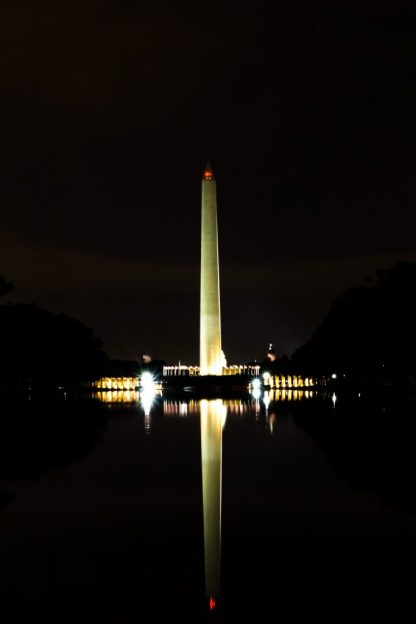 Wahington Monument at night