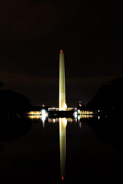 Wahington Monument at night