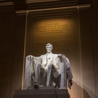 Lincoln Statue inside Lincoln Memorial