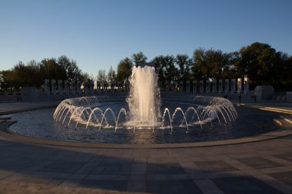 Fountain at WWII Monument