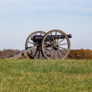 Civil War Canon shown from the side, Manassas Battlefield Park