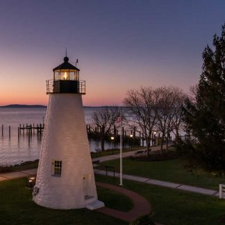 Concord Point Lighthouse, Aglow at Dawn (Crop #3)