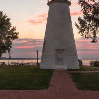 Concord Point Lighthouse, Pink Sunrise
