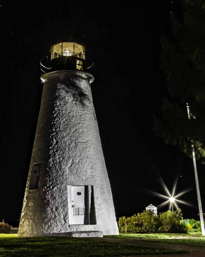 Concord Point Lighthouse at Night with Stars