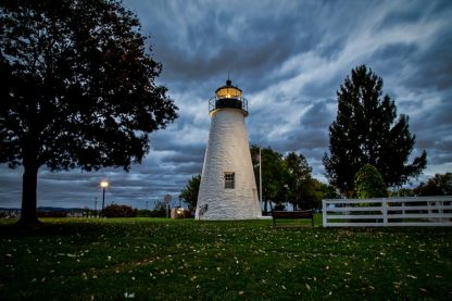 Concord Point Lighthouse, on a Stormy Morning (Landscape Orientation)