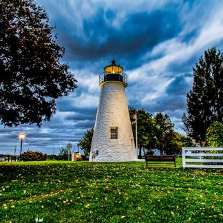 Concord Point Lighthouse, on a Stormy Morning (Landscape Orientation - HDR)