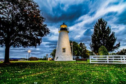 Concord Point Lighthouse, on a Stormy Morning (Landscape Orientation – HDR)