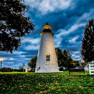 Concord Point Lighthouse, on a Stormy Morning (Portrait Orientation - HDR)