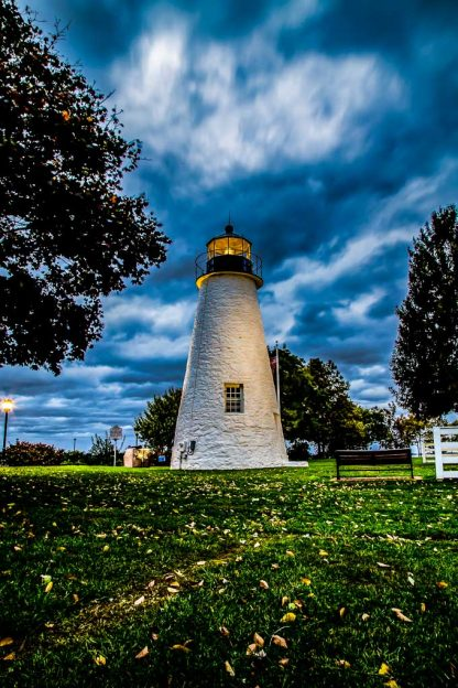 Concord Point Lighthouse, on a Stormy Morning (Portrait Orientation – HDR)