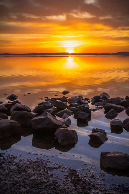 Sunrise on the Rocks at Concord Point in Havre de Grace, MD.