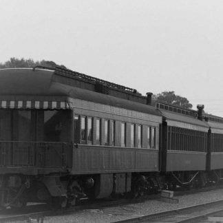 Vintage Train Cars sitting ready on the tracks.