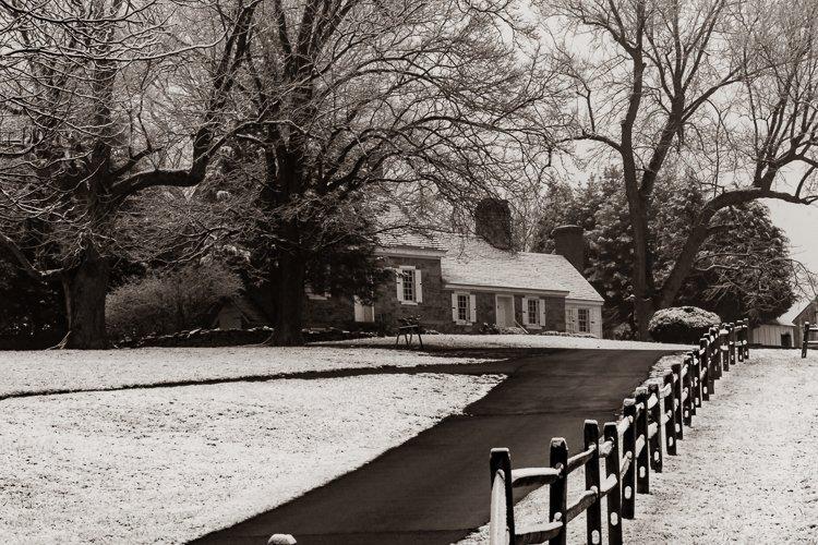 Farmhouse at Steppingstone Farm Museum (B&W)