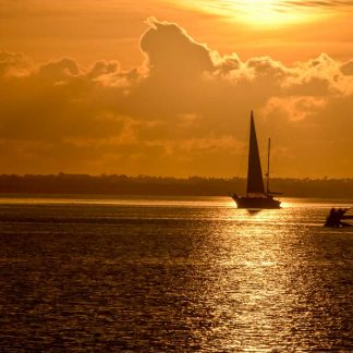 Sailboat in the Golden Sunrise